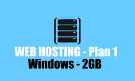 2 GB Windows Hosting + Domain name ($45 | PKR. 4500) / Year