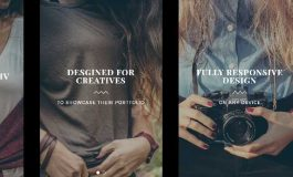 Creative Photography HTML Template ($18 | PKR.1800)