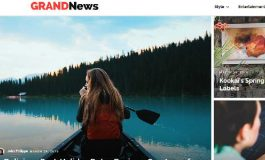 Grand News Magazine website template ($59 | PKR. 5900)