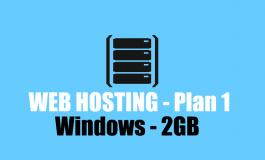 2 GB Windows Hosting + Domain name ($45 | PKR. 4500) / Year