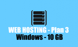 10 GB Windows Hosting + Domain name ($152 | PKR. 15200) / Year