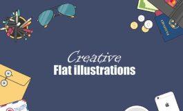 Professional flat type illustrations ($10 | PKR.1000)